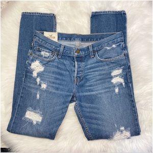 Hollister Skinny Jeans Distressed Destroy 34 X 34